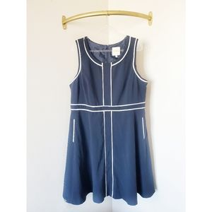 ModCloth Navy Fit & Flare Sleeveless Dress Plus 2X